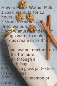 How to make walnut milk.